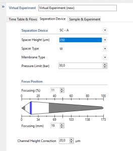 Virtual Experiment Separation Device