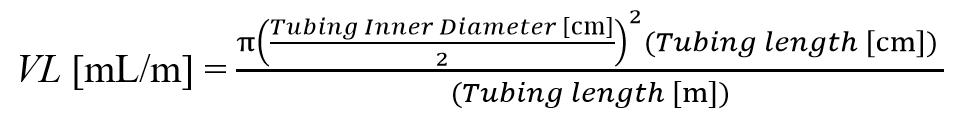 Volume of Sample Tubing