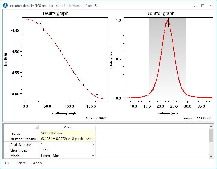 number density analysis GUI