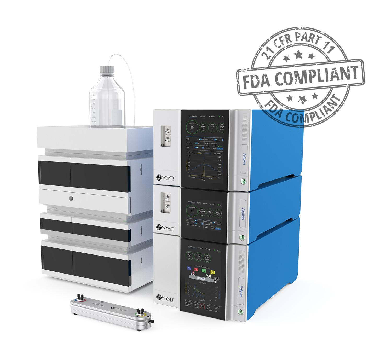 HPLC-MALS-FFF-FDA